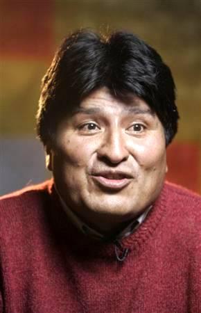 La broma a Evo Morales.